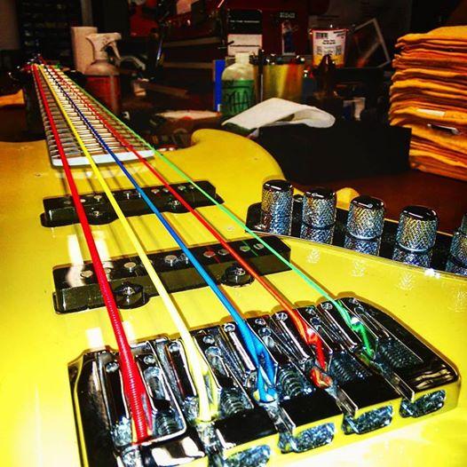 R Guitars - the guitar repair shop busy at work